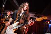 """Joseba B. Lenoir -guitarrista- y Kike Lafuente """"Penike"""" -bajista- de Sumisión City Blues, Sala Edaska, Barakaldo. 2011"""