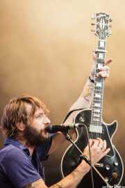 Ben Bridwell, guitarrista, cantante y lap steel de Band of Horses, Azkena Rock Festival, 2011