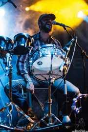 Marcos Úbeda, percusionista de Arizona Baby, Azkena Rock Festival, Vitoria-Gasteiz. 2011