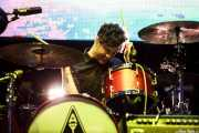 Jeremy Gara, baterista de Arcade Fire (Explanada del museo Guggenheim, Bilbao, 2011)