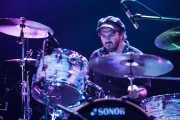 Joe Winters, baterista de The Steepwater Band (Kafe Antzokia, Bilbao, 2011)