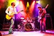 Jeff Massey -voz y guitarra-, Joe Winters -batería- y Tod Bowers -bajo- de The Steepwater Band (Kafe Antzokia, Bilbao, 2011)