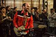 """Antonio """"Greasy"""", cantante y guitarrista de Greasy & Grizzly (Barreiro Rocks, Barreiro, 2011)"""