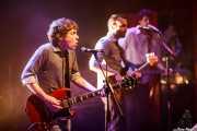 Ignacio Garbayo -cantante y guitarrista-, Lander Moya -bajista- y Álvaro Luna -guitarrista y cantante invitado- de Zodiacs, Bilbao. 2012