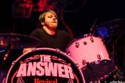 James Heatley, baterista de The Answer, Kafe Antzokia, Bilbao. 2012