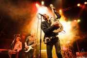 Ken Fox -bajo y voz-, Bill Milhizer -batería-, Peter Zaremba -voz, teclado y armónica- y Keith Streng -guitarra y voz- de The Fleshtones (Kafe Antzokia, Bilbao, 2012)