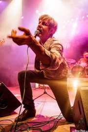 Peter Zaremba, cantante, teclista y armonicista de The Fleshtones (Kafe Antzokia, Bilbao, 2012)