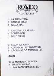 Setlist de Romeo, Kafe Antzokia, Bilbao. 2012