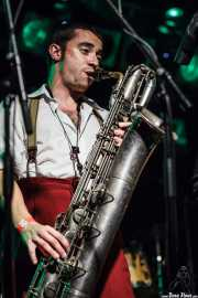 Pere Miró, saxofonista de The Big Jamboree, Jimmy Jazz Gasteiz. 2012