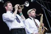 Jon Radford -Trompetista- y Dan Faulkner -saxofonista- de Si Cranstoun (14/06/2012)