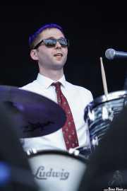 Mez Clough, baterista de Si Cranstoun (14/06/2012)
