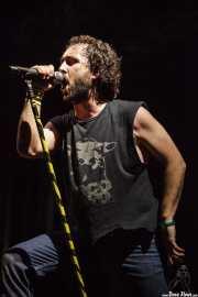 """Manu """"Gallego"""", cantante de Porco Bravo, Azkena Rock Festival, 2012"""