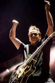 Adriano Batolba, guitarrista de Dick Brave and the Backbeats, Azkena Rock Festival2012