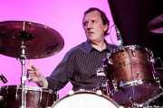 Kevin Morris, baterista de Dr. Feelgood (Festival Internacional de Blues de Getxo 2012, Algorta, Getxo, 2012)