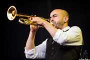 Benoit Molina, trompetista de The Inspector Cluzo & The FB'S Horns (Bilbao BBK Live, Bilbao, 2012)