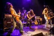 Josu Palacios Arnaiz -guitarrista-, Aitor Zorriketa -bajista-, Iñigo L. Agudo -cantante- y Hugo Landaluce -guitarrista- de Quaoar, Bilbao. 2012