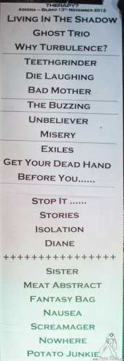 036 Therapy 14XI2012 setlist