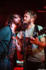 Adam Stephens -voz, guitarra y armónica- y Tyson Vogel -batería, voz y guitarra- de Two Gallants, Sala Azkena, Bilbao. 2012