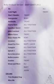 034 Purple Weekend 2012 Roky Erickson 8XII12 setlist