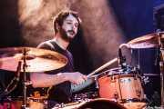 Claudio F. Paván, baterista de Señores, Kafe Antzokia, Bilbao. 2013