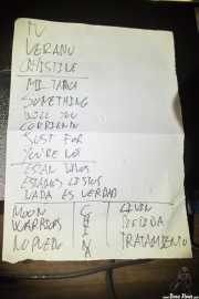 Setlist de Shock Treatment (Kafe Antzokia, Bilbao, 2013)