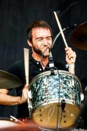 Loza, baterista de Sex Museum, Azkena Rock Festival, Vitoria-Gasteiz. 2013