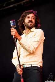 Miguel Pardo, cantante de Sex Museum, Azkena Rock Festival, Vitoria-Gasteiz. 2013