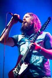 Ewan Currie, cantante, guitarrista y teclista de The Sheepdogs, Azkena Rock Festival, Vitoria-Gasteiz. 2013