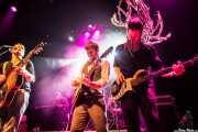 Ben Ringel -voz y guitarra-, Nate Kremer -teclado-, Dylan Fitch -guitarra- y David Supica -bajo- de The Delta Saints, Kafe Antzokia, Bilbao. 2013
