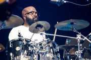 """Joseph McCreary """"Foley"""", baterista de George Clinton's Parliament Funkadelic, Stade Aguiléra. 2013"""