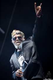 "Robert ""Pnut"" Johnson, cantante de George Clinton's Parliament Funkadelic, Stade Aguiléra. 2013"