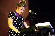 Cristina Lizarraga, teclista y cantante de Belako, , 2013