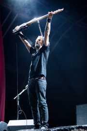 David González, bajista de Berri Txarrak, Bilbao. 2013
