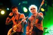 """Michael """"Olga"""" Algar -cantante y guitarrista- y Tom """"Tommy Goober"""" Blyth -bajista- de The Toy Dolls, Bilbao. 2013"""
