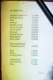 033 Pete Ross & The Sapphire 8XI13 setlist