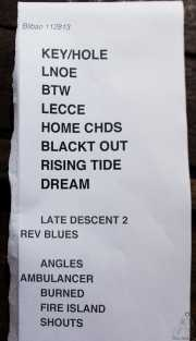 023 Primavera Sound Touring Party 2013 Lee Ranaldo Band 28XI13 setlist