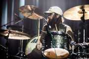 Jeff Murray, baterista de The Shrine (Kafe Antzokia, Bilbao, 2014)