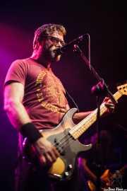 Aaron Beam, cantante y bajista de Red Fang, Kafe Antzokia, Bilbao. 2014