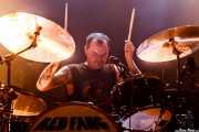 John Sherman, baterista de Red Fang, Kafe Antzokia, Bilbao. 2014