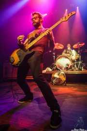 Aaron Beam -voz y bajo- y John Sherman -batería- de Red Fang, Kafe Antzokia, Bilbao. 2014