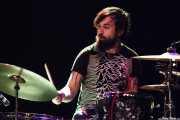 Jos van Tol, baterista de Jacco Gardner (Kafe Antzokia, Bilbao, 2014)