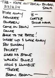 Setlist de The Steepwater Band (Kafe Antzokia, Bilbao, 2014)