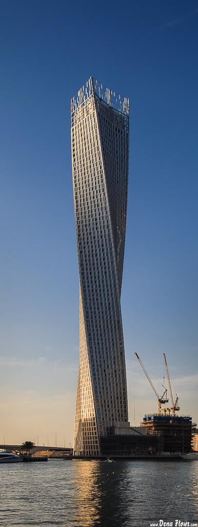 Cayan Tower, Dubai Marina 025 Vacaciones Marzo 2014 Emiratos Arabes Unidos Dubai