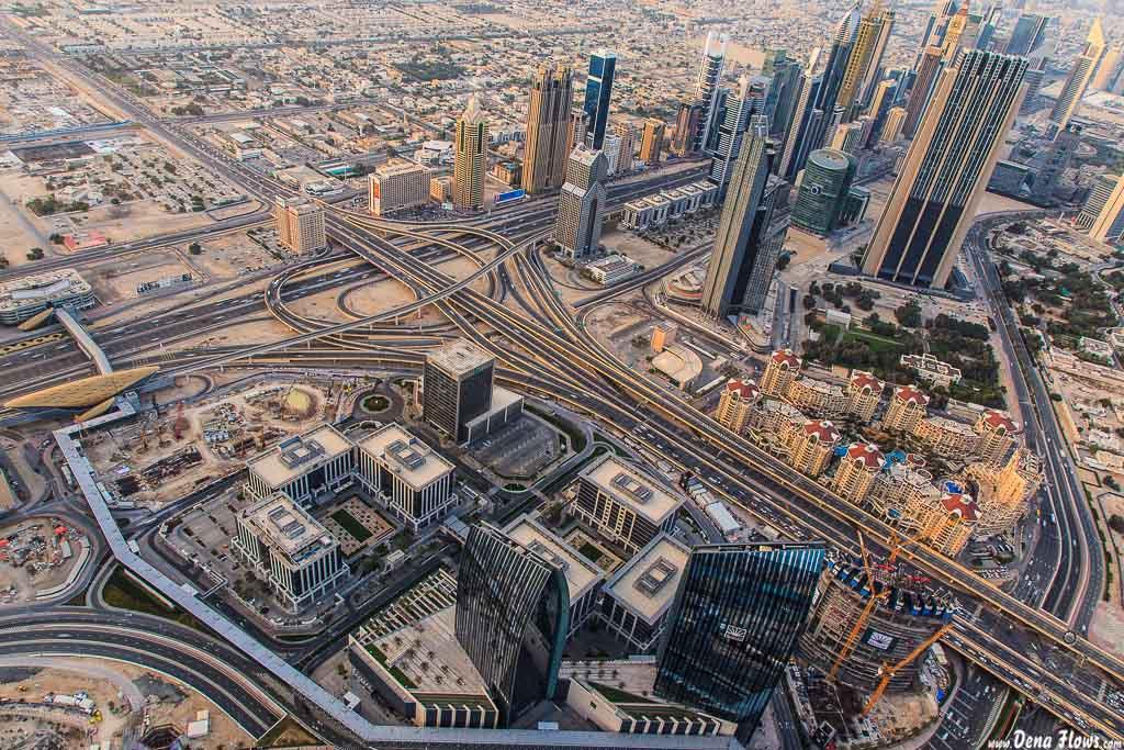 Dubai desde el piso 124 de la Burj Khalifa 102 Vacaciones Marzo 2014 Emiratos Arabes Unidos Dubai
