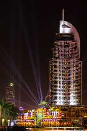 The Address Downtown Dubai Hotel & Souk Al Bahar. Video Mapping. 061 Vacaciones Marzo 2014 Emiratos Arabes Unidos Dubai