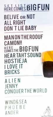 setlist de Yellow Big Machine, Bilborock