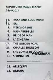 setlist de The Magic Teapot, Santana 27, 2014