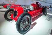 Alfa Romeo Bimotore 1945. Exhibición de coches en la casa-museo de Enzo Ferrari, Via Paolo Ferrari, 85, 2014