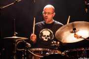"Galder ""Uste dut"", baterista de Penadas por la ley (Kafe Antzokia, Bilbao, 2014)"