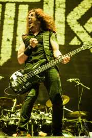 Frank Bello, bajista de Anthrax, Bilbao Exhibition Centre (BEC), 2014